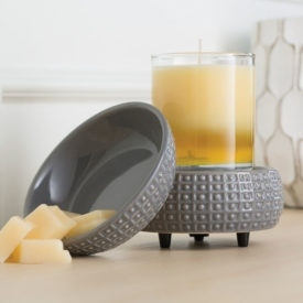 2 in 1 Candle & Tart Warmer - Slate - Candle Crest Soy Candles