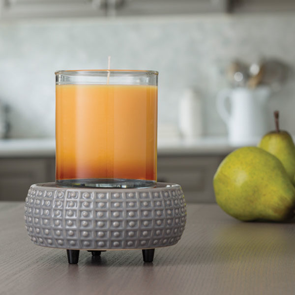 2 in 1 Candle & Tart Warmer - Slate Gray - Candle Crest Soy Candles Inc