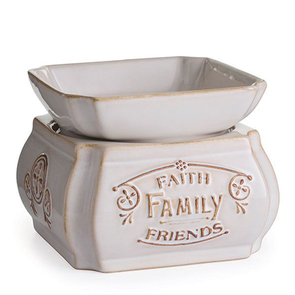 2 in 1 Candle & Tart Warmers -Faith Family Friends - Candle Crest Soy Candles Inc