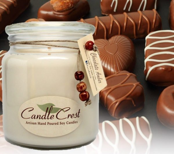 Chocolate Amber Candles by Candle Crest Soy Candles Inc