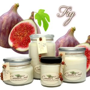 Fig Scented Soy Candles by Candle Crest Soy Candles Inc
