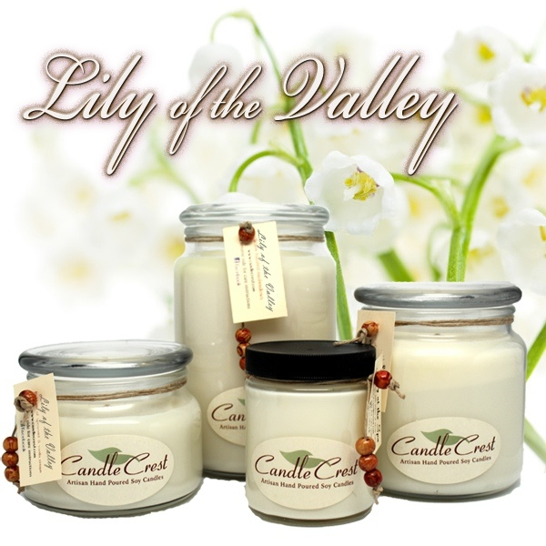 Lily of the Valley Scented Soy Candles by Candle Crest Soy Candles Inc