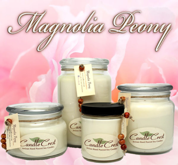 Magnolia & Peony Scented Soy Candles by Candle Crest Soy Candles Inc