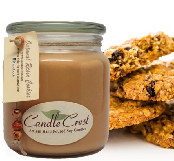 Oatmeal Raisin Cookies Scented Candles by Candle Crest Soy Candles Inc