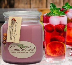 Raspberry Sangria Soy Candles by Candle Crest Scented Candles Inc