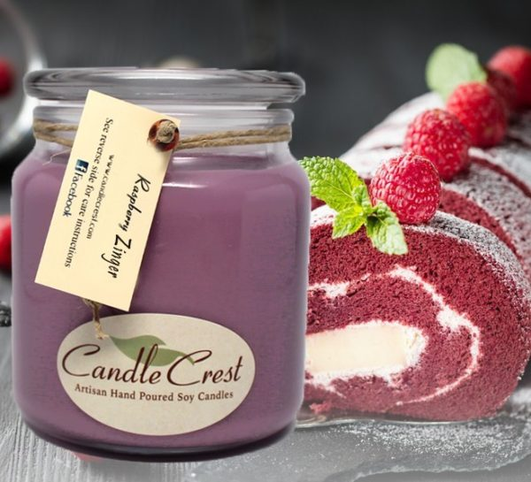 Raspberry Zinger - Bakery Scented Soy Candles by Candle Crest Soy Candles Inc