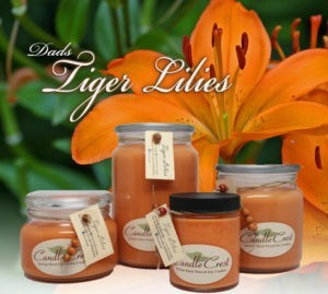 Tiger Lilies Soy Candles by Candle Crest - Scented Soy Candles Inc