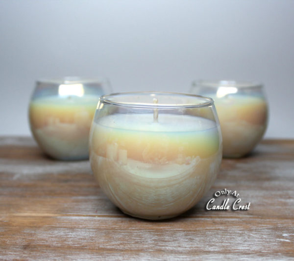Iridescent Glass Soy Candles 2 by Candle Crest