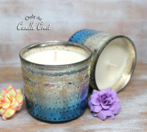 Metallic Blue & Silver Jar Soy Candles by Candle Crest Soy Candles Inc