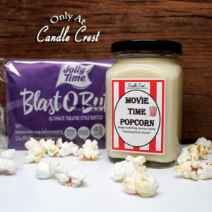 Movie Time Popcorn Candle - Butter Popcorn Candle by Candle Crest