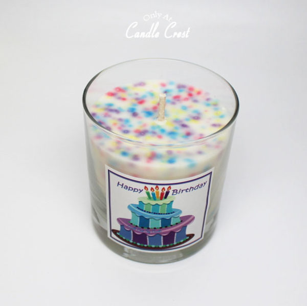 Happy Birthday Soy Candle by Candle Crest Soy Candles Inc