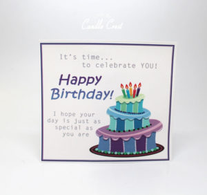 Happy Birthday Insert Card by Candle Crest Soy Candles Inc