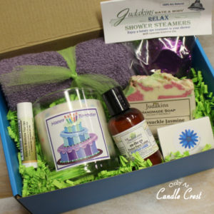 Happy Birthday Gift Box by Candle Crest Soy Candles Inc