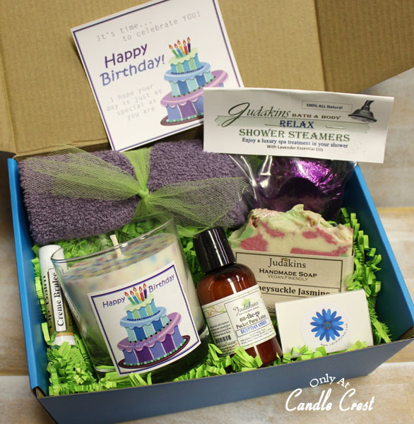 Happy Birthday Gift Box by Candle Crest Soy Candles-Inc
