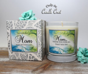 Mothers Day Candles - Thank You Candle Crest Soy Candles Inc