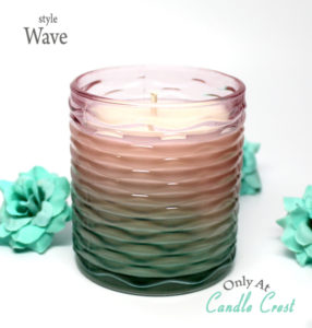 Spring Candles - Wave Design by Candle Crest Soy Candles