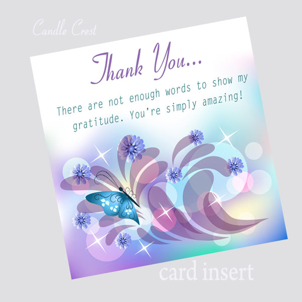 Thank You Soy Candle by Candle Crest Soy Candles Inc