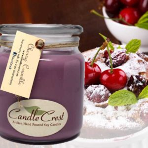 Cherry Crumble Scented Candles by Candle Crest Soy Candles Inc