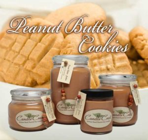 Peanut Butter Cookie Scented Candles by Candle Crest Soy Candles Inc