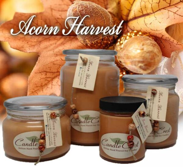 Acorn Harvest Scented Candles by Candle Crest