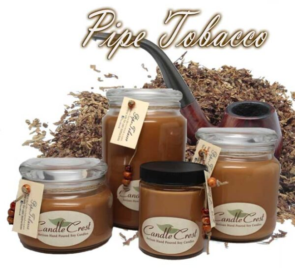 Pipe Tobacco Scented Soy Candles by Candle Crest