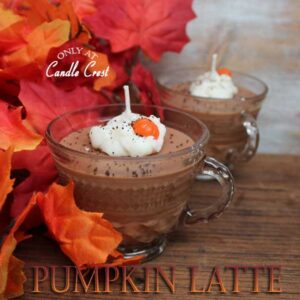 Pumpkin Latte Cup Candles by Candle Crest Soy Candles