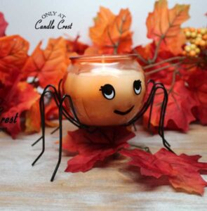 Orange Spider- Candles by Candle Crest Soy Candles