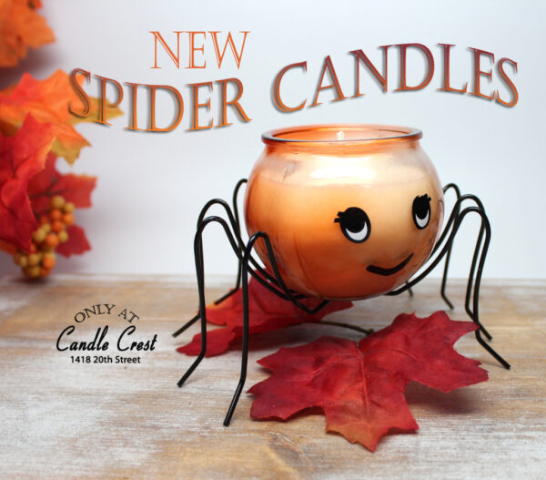 Fall Spider Candles by Candle Crest Soy Candles