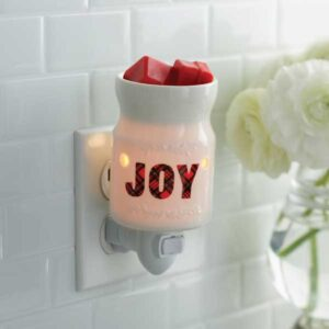 Holiday, Joy Pluggable Tart Warmer - Candle Crest Soy Candles
