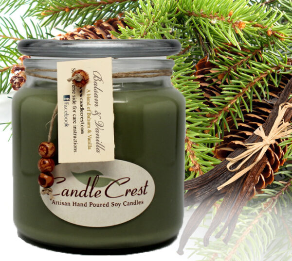Balsam & Vanilla Soy Candles by Candle Crest Soy Candles Inc