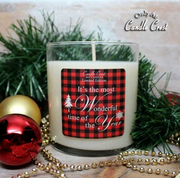 It's the Most Wonderful Time of the Year Candle - by Candle Crest Soy Candles