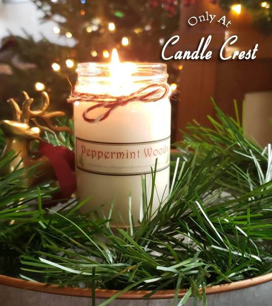 Peppermint Woods Candle by Candle Crest Soy Candles Inc