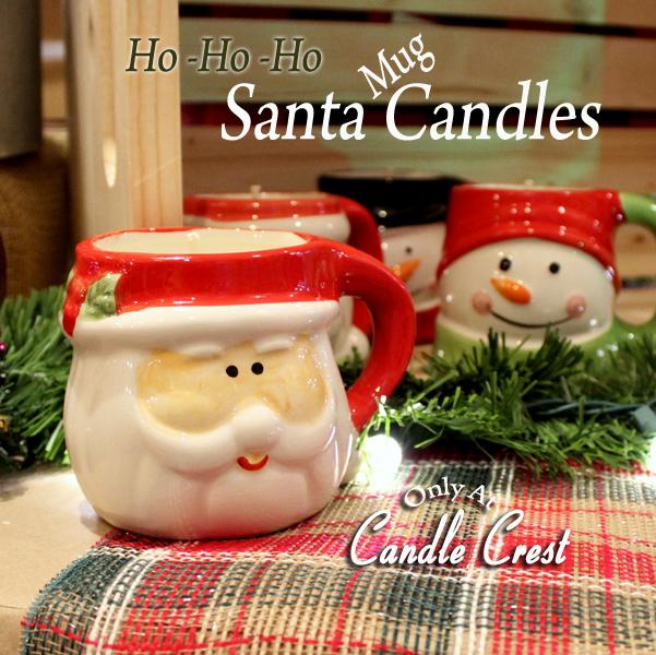 Santa Mug Candle by Candle Crest Soy Candles Inc