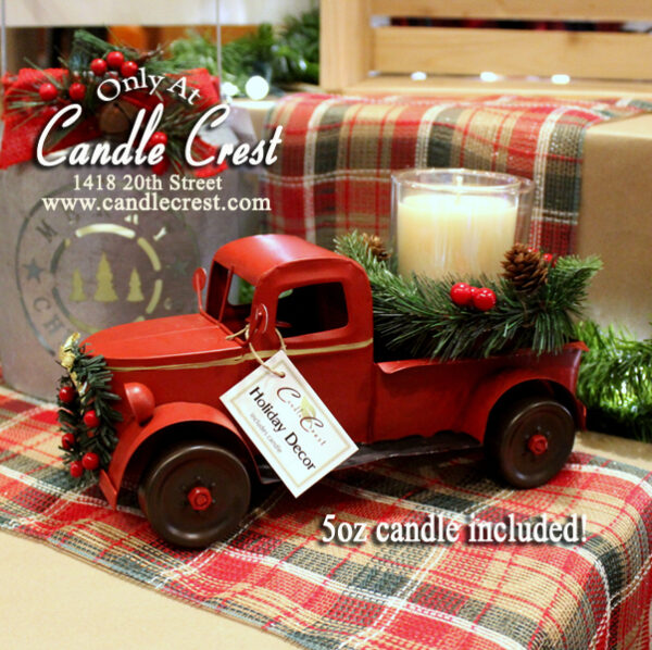 Vintage Style Red Truck - Candle Crest Soy Candles