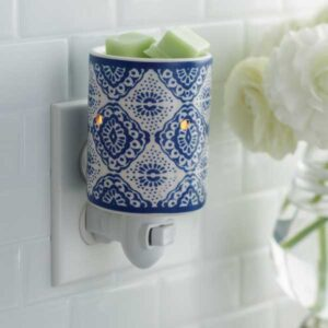 Indigo Pluggable Tart Warmer from candle Crest Soy Candles