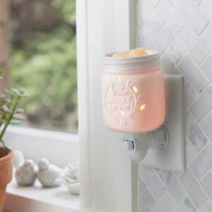 Mason Jar Pluggable Tart Warmer from Candle Crest