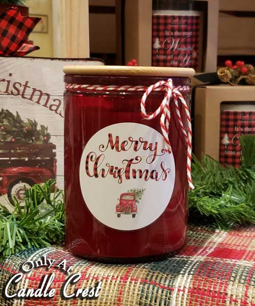 Holiday Candles - Merry Christmas Soy Candles by Candle Crest