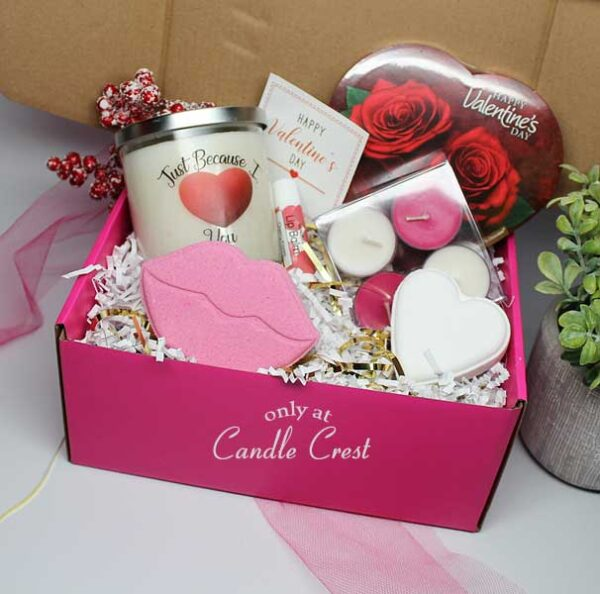 Valentines Day Gift Box - by Candle Crest Soy Candles