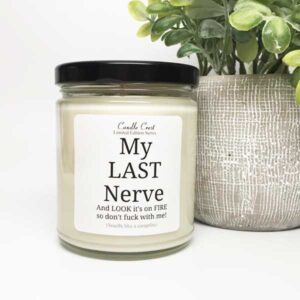 My Last Nerve Candle by Candle Crest