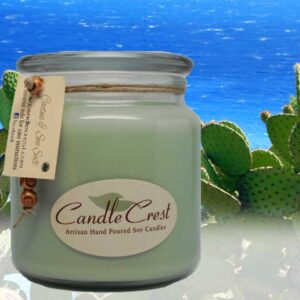 Cactus and Sea Salt Scented Candles by Candle Crest Soy Candles Inc