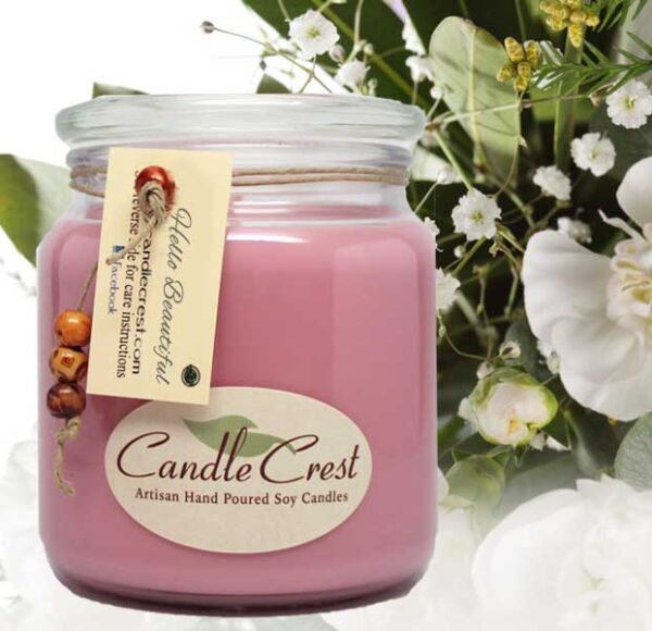 Hello Beautiful Scented Soy Candle - Candle Crest Soy Candles