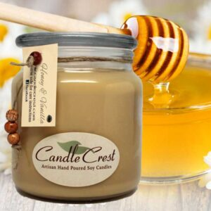 Honey & Vanilla Scented Soy Candles by Candle Crest