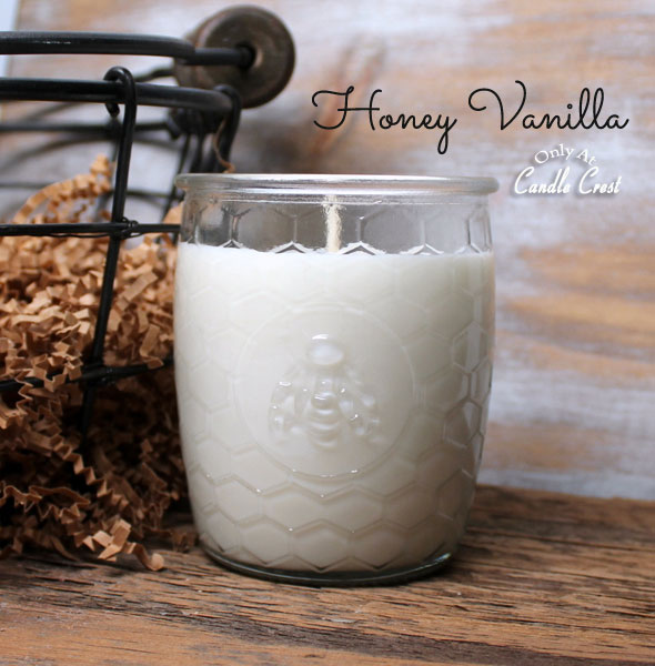 Honeycomb Jar Candles by Candle Crest Soy Candles