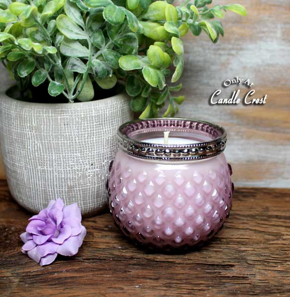 Spring Hobnail Glass Candles - by Candle Crest