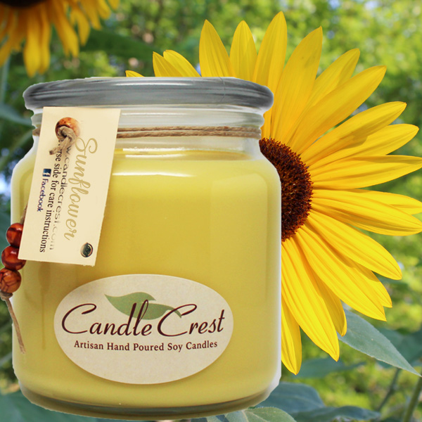Sunflower Scented Candles by Candle Crest Soy Candles