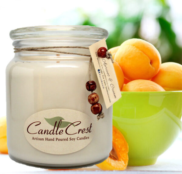 Apricot & Cream Candles - Soy Candles by Candle Crest Soy Candles Inc