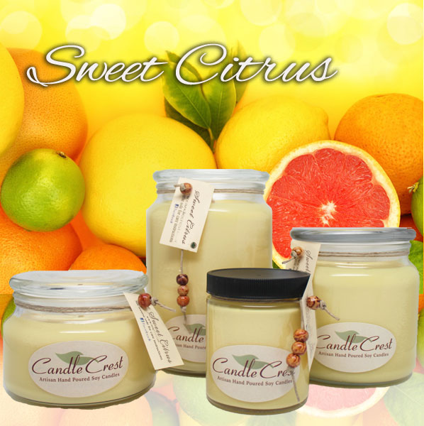 Sweet Citrus Soy Candles by Candle Crest Soy Candles Inc