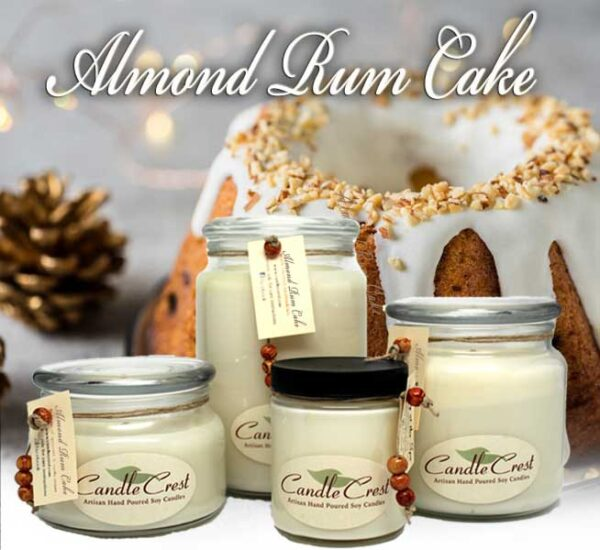 Almond Rum Cake Soy Candles by Candle Crest
