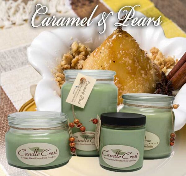 Caramel & Pears Soy Candles by Candle Crest