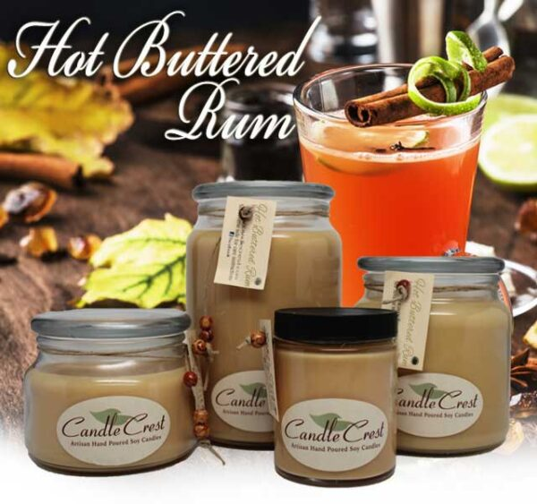 Hot Buttered Rum Candles by Candle Crest